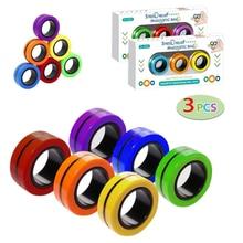 Bracelet magnétique Anti-Stress pour enfant, anneau décompressé, accessoire magique, jouet Anti-Stress