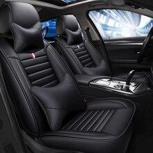 Deri araba klozet kapağı Peugeot 308 sw için 206 307 407 207 2008 208 406 301 3008 508 607 araba aksesuarları 5 koltuk