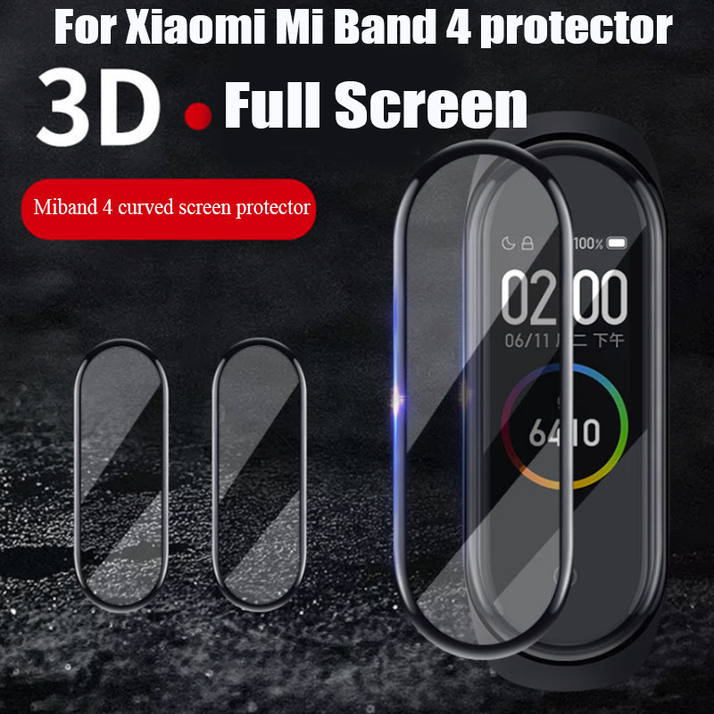 BOORUI 3D Film For Xiaomi Mi Band 4 Protector Soft Cover For Mi Band 4  Curved Full Screen Case Mi Band 4 Screen Protection Case