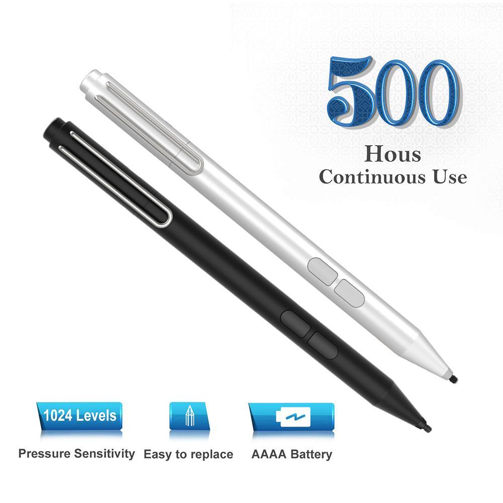 Active Stylus Pen Aluminum Alloy Pressure Sensitivity Stylus Active Pen Surface Laptop Stylus Pen For Microsoft ASUS HP Sony And