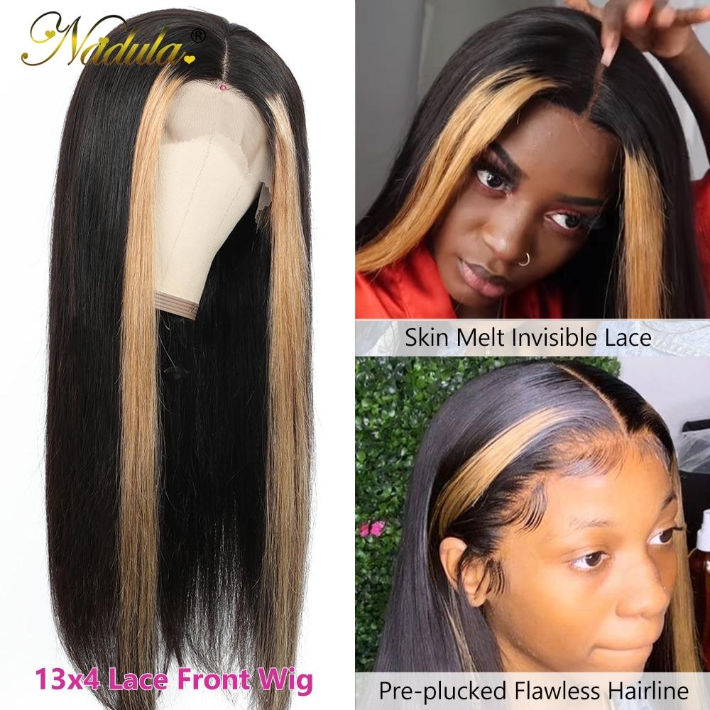 Nadula Hair 13x4 Straight Hair Highlight Lace Front Wigs  Ombre Lace  Wig  Straight Hair Ombre Wig 2