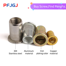 Peng Fa Copper riveting nut flat head riveting nut copper knurl stripe vertical column M4M5M6