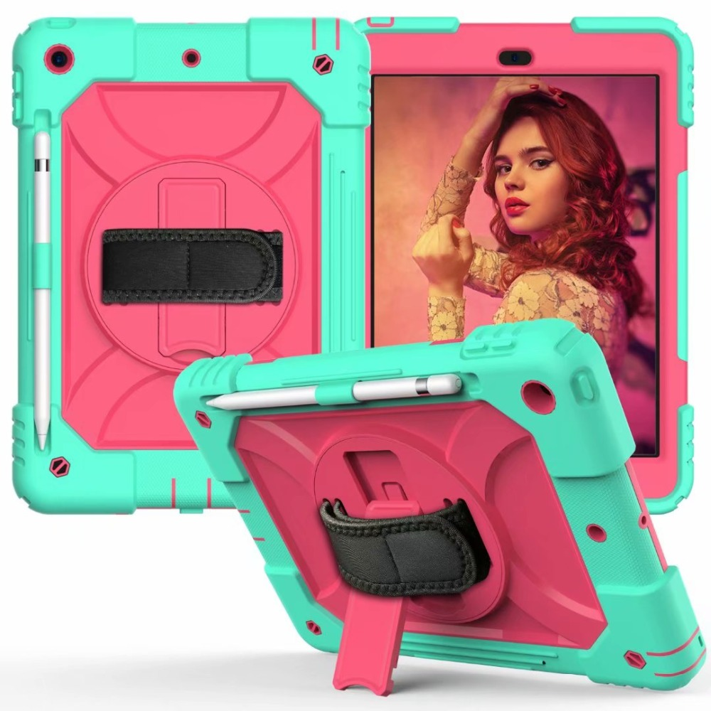 Generation Holder iPad 360 For Strap Pencil For Case Hand Rotating Cover Stand 7th iPad