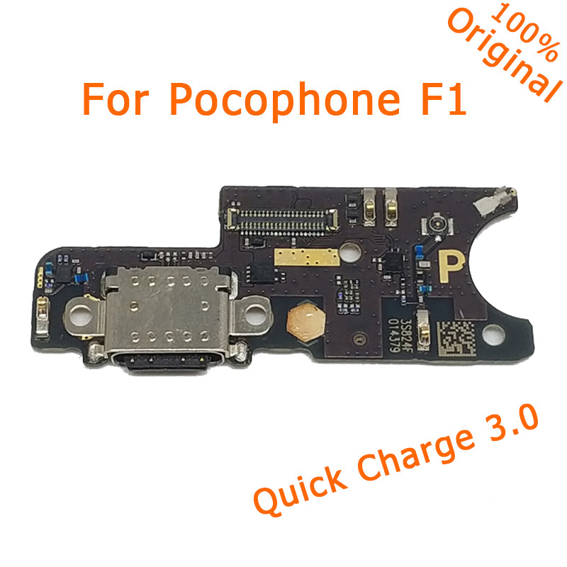 Parts For Poco F1 Charge Port Parts For Xiaomi Pocophone F1 Charging Port Board Usb Carga Original Pocophone F1 Motherboard