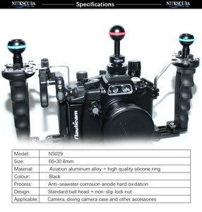 Image 2 - NiteScuba Diving vide light hotshoe Adapter Ball adaptor Mount for RX100 TG5 Camera housing case strobe Underwater Photography
