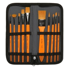 Paint-Brush-Set Watercolor Oil-Painting Art-Supplies Carrying-Case Drawing Nylon-Hair
