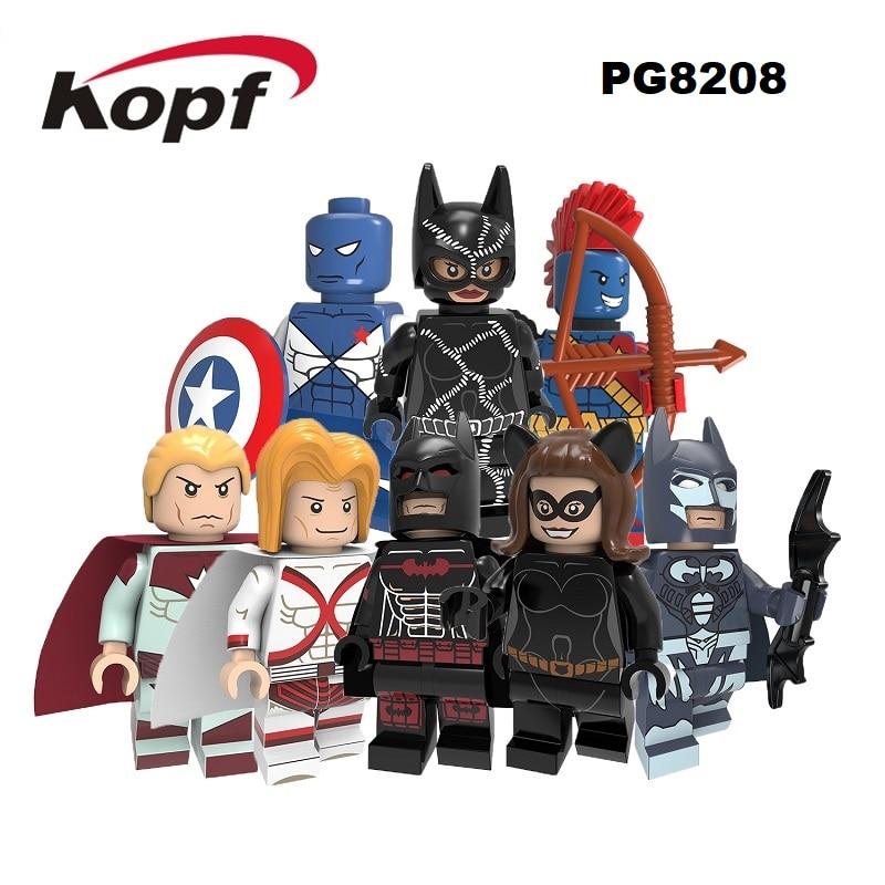 Building Blocks Super Heroes Batman Greta Hayes Yondu Victory Captain Consul Red Fox Superman Figures Toys For Children PG8208