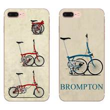 Vintage Brompton Folding Bike For Apple iPhone X XS Max XR 4 4S 5 5C 5S SE 6 6S 7 8 Plus Soft TPU Retail New Fashion(China)