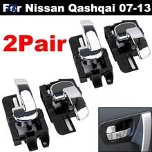 4x manija de la puerta Interior cromo izquierda para Nissan Qashqai J10 2007, 2008, 2009, 2010, 2011, 2012, 2013 80670JD00E 80671JD00E