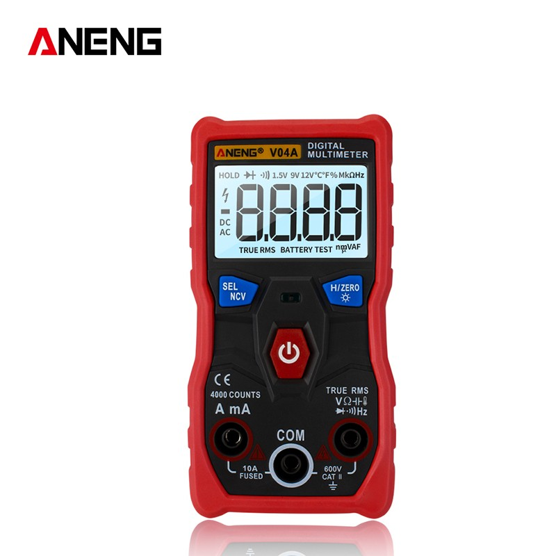 Anti-fall V04A Digital Multimeter 4000 word display automatic range multimeter 9 functions Measurement tester HD backlight