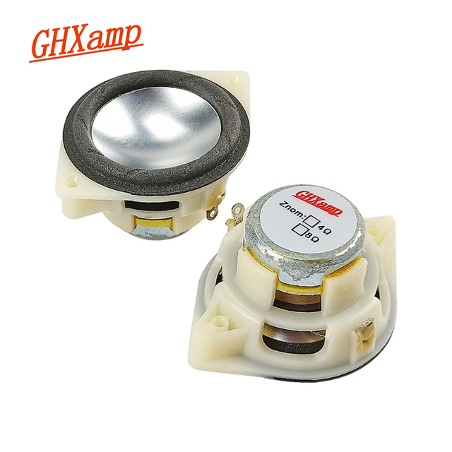 GHXAMP 1.5 inch 4ohm 5W full range speaker Long stroke Magnesium Aluminum cone Neodymium Desktop Bluetooth MINI Speaker Diy 2pc