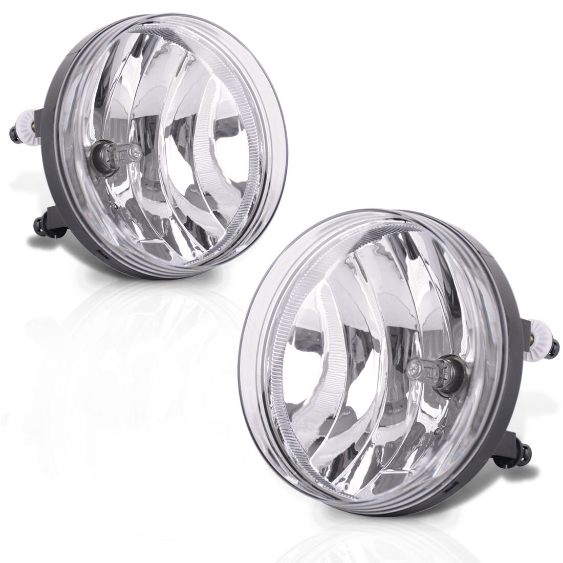 For 2007-2013 Gmc Sierra Clear Front Bumper Fog Lights Driving Lamp With Bulbs Pair Gm2592161 / Gm2593161