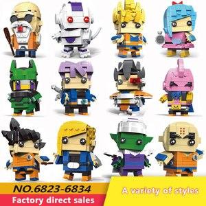 Image 1 - Neue Dragon Ball Z Torankusu Vegeta Anime Goku Tien Shinhan Bausteine Ziegel action figur Kinder Cartoon Spielzeug