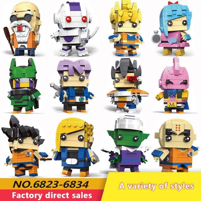 Neue Dragon Ball Z Torankusu Vegeta Anime Goku Tien Shinhan Bausteine Ziegel action figur Kinder Cartoon Spielzeug