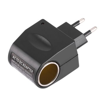 Universal Plastic + Metal 110V-240V 50-60Hz AC to 12V DC EU Car Power Adapter Adaptor Converter Cigarette Lighter image