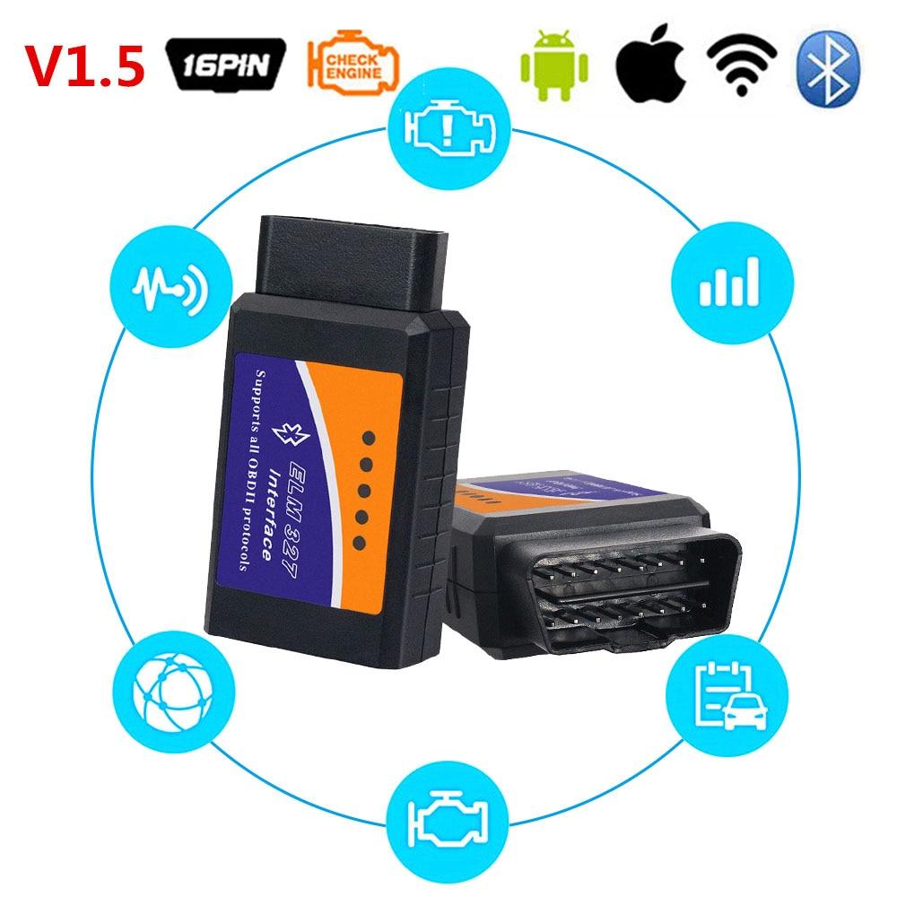 OBD2 II Scanner ELM327 V1.5 Wifi Bluetooth Code Readers Scan Diagnostic Tool For Volkswagen VW Audi BMW Citroen Peugeot Lincoln