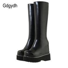 Gdgydh/пикантные сапоги до колена с заклепками; Женская обувь