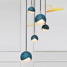 Nordic LED  Glass Ball Pendant Lamp Lighting Modern Minimalist Art Pendant Lights Loft Restaurant Cafe Interior Hanging Lamps magic beans dna lustres wrought iron industrial cafe project 5 lamps nordic art deco glass ball led pendant hanging lights
