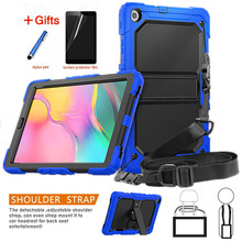 Case for Samsung Tab A 10.1 2019 SM T510 SM T515 T510 Heavy Duty Rugged Shockproof Cover tab A 10.1 2019 in Kickstand+Neck Strap