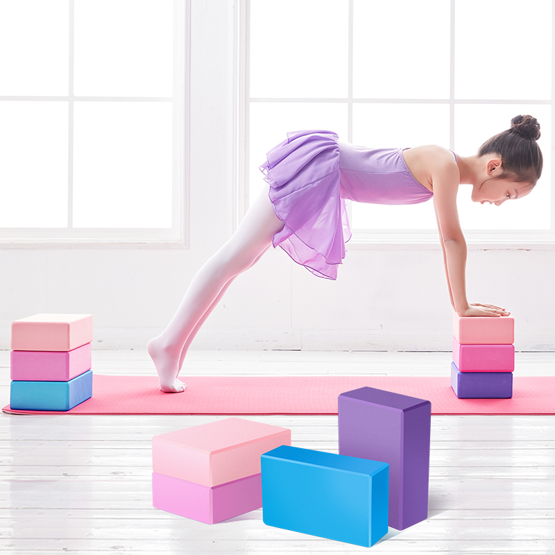 EVA Yoga Blocks Gym Fitness Foam Brick Dance Yoga Training Auxiliary Tools High Density Block