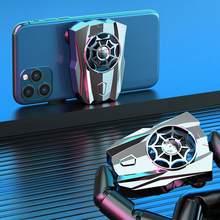 Ventilador de refrigeración para teléfono móvil, enfriador portátil ultrasilencioso para videojuegos, recargable, asa para teléfono