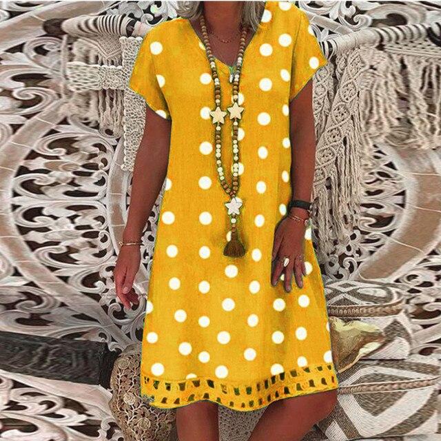 polka dot dress, work or play 2