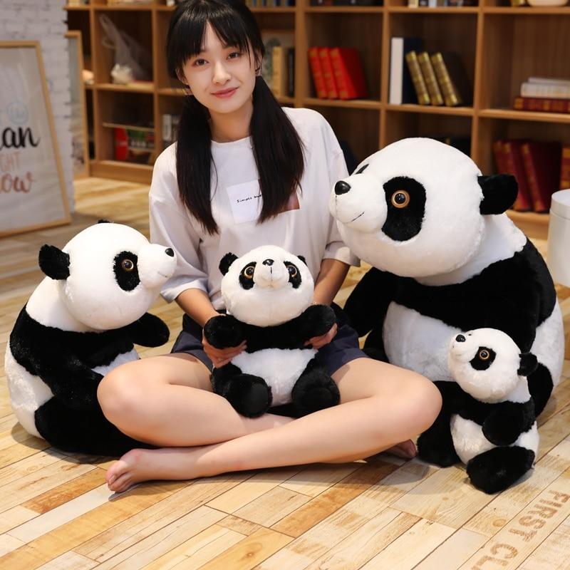 Cute Baby Giant Panda Bear Plush Standing Posture Stuffed Animal Doll Toy Pillow Cartoon Kawaii Dolls Girls Lover Gifts Just6F