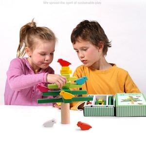 Image 4 - עץ צעצועי איזון ציפור עץ ילדים צעצועי מסיבת משחקי צעצועים חינוכיים לילדים אינטראקציה ילדים צעצוע אבני בניין תינוק מתנה