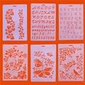 1 шт. Алфавит английские буквы DIY трафареты для наслоения шаблон для рисования бабочка цветок раскраска для скрапбукинга шаблон для тиснени...