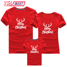 New Family Matching Christmas T-shirt New Year Family Father Mother Daughter Son Santa Claus Family Matching Look Outfits