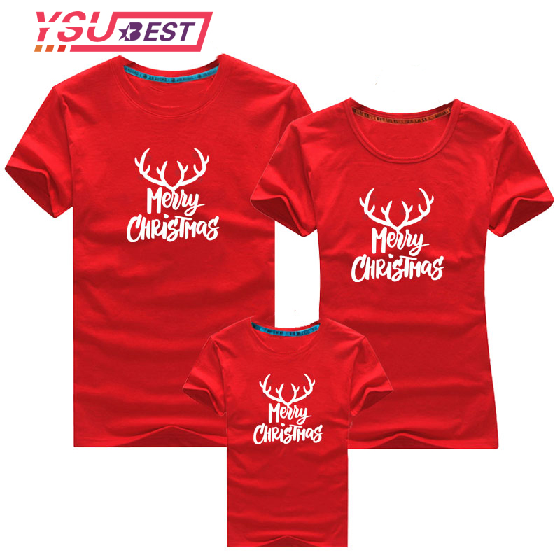 New Family Matching Christmas T-shirt 2019  New Year Family Father Mother Daughter Son Santa Claus Family Matching Look Outfits