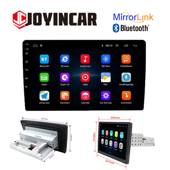 "JOYINCAR 1Din Android 9.1 Car Radio Multimedia Player 10.1"" Touch Screen Autoraido GPS Navigation Bluetooth WiFi Stereo MP5 Play image"