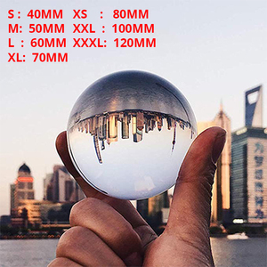 Image 1 - Globe K9 Clear Chandelier Lens Ball Crystal Glass Ball Crystal Ball Stand For Sphere Photography Decoration Home Decorative ball
