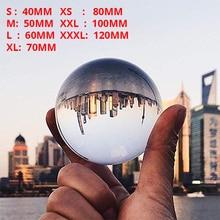 غلوب K9 واضح الثريا عدسة الكرة كرة زجاج كريستالية كريستال الكرة الوقوف ل المجال التصوير الديكور ديكور المنزل الكرة