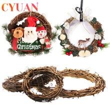 Garland Hanging-Ornament Christmas-Decor Rattan Wreath Door New-Year-Decor Home for DIY