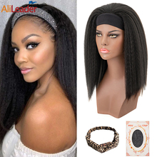 Alileader парик с головной повязкой синтетические волосы, короткие прямые безклеевые, 16 дюймов, бразильские волосы, парики для черных женщин, ку...