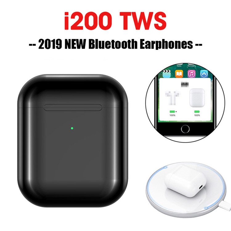 I200 Tws bluetooth écouteur PK W1 H1 capteur contrôle du robinet écouteurs sans fil charge PK i80 i10 i12 i90 i30 i60 i20 i100 TWS