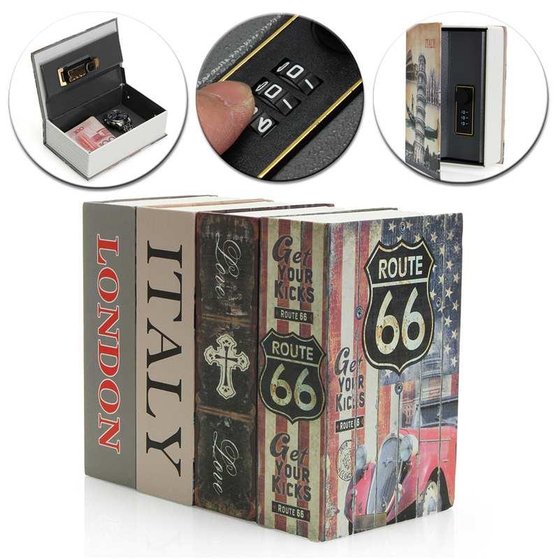 Hollow Mini Dictionary Safe Box Book Money Hide Secret Security Safe Lock Cash Money Coin Storage Jewellery Key Locker Kid Gift