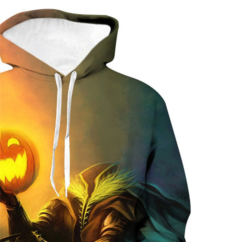 Mens Casual Scary Halloween Hoodie 3D Sweatshirt Autumn And Winter Festival hoody men long sleeves Plus Size Pullover 50Au70