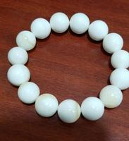 14mm Natural White Gold Color Mother of pearls Fashion Bracelet