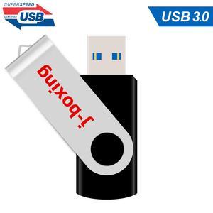 Image 1 - J الملاكمة 16GB USB 3.0 فلاش فلاش قرص ذاكرة عصا معدنية قابلة للطي القلم محرك 32GB 64GB فلاشة مزودة بفتحة يو إس بي يو القرص للكمبيوتر ماك اللوحي الأسود