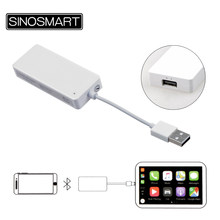 SINOSMART Bluetooth Wireless Smart Link Apple CarPlay Android Auto Mini USB Dongle/Stick for Android Navigation Player(China)