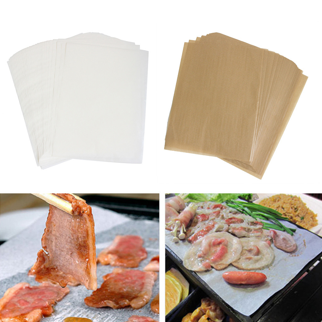 Kitchen Silicone Greaseproof Paper Sheets Baking Parchment Cookware Dining New
