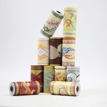 Cuarto de baño impermeable auto-adhesivo de vinilo papel pintado frontera pegatinas Retro Cocina sala de zócalo pared etiqueta de la decoración del hogar