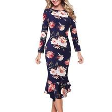Vfemage женские элегантные винтажные весенние осенние Pinup офисные деловые повседневные Коктейльные Вечерние облегающие платья Русалка 2787
