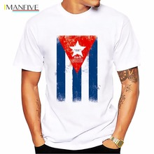 Cuba Cuban flag design t shirt homme 2019 summer new white casual tshirt man Short Sleeve Breathable Plus Size S-XL T-shirt men