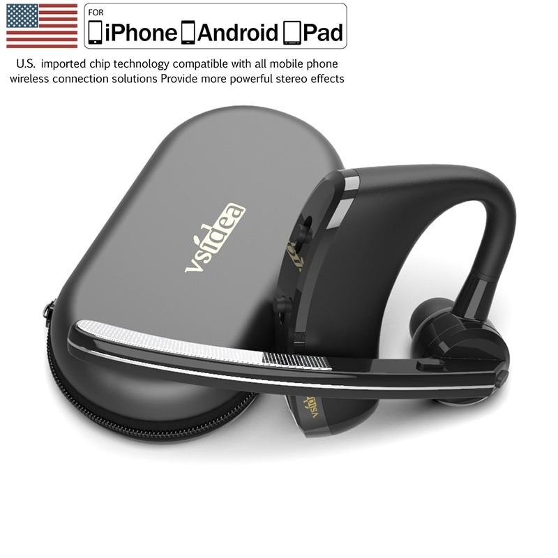 Vsidea-8 Бизнес Bluetooth гарнитура быстрой зарядки драйвер громкой связи Bluetooth гарнитура наушники с микрофоном Шум шумоподавлением гарнитура для ...