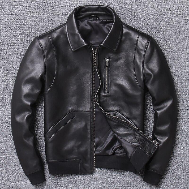 Free Shipping.2020 Casual Man Genuine Leather Coat,mens Sheepskin Jacket.busines Leather Jackets.fashion Style Plus Size Sales