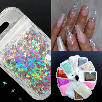1 Bag Ultrathin Sequins Laser Star Glitter Sequins for Nail Art Decoration Body Art Painting Nail DIY Decor Accessories