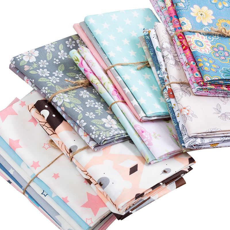 Tejido de algodón estampado de dibujos animados, tejido de costura Floral vintage para muñecas DIY o material hecho a mano para niños de 50*40cm TJ0202